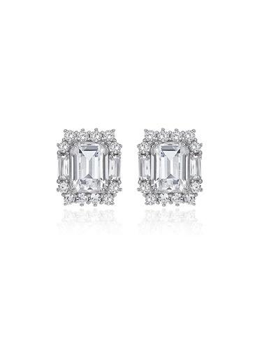 4,4Ct Pırlanta Efekt Lısa Whıte Altın Küpe-Tophills Diamond Co.